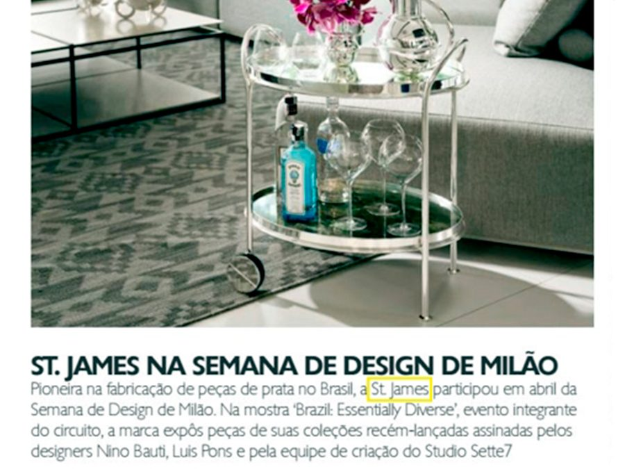 St. James na Semana de Design de Milão – Revista Home Magazine
